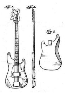Croquis de la fender precision bass