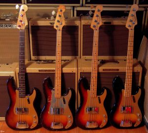 plusieurs bass fender precision