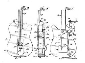 Vue technique de la guitare fender aerodyne telecaster