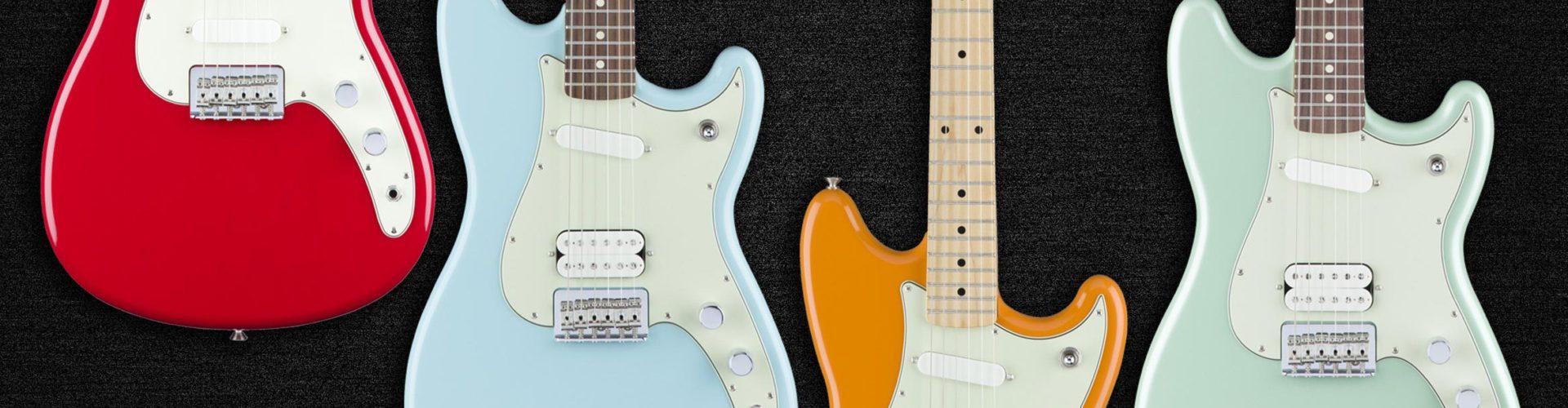 Fender Duo-Sonic HS, Mustang Bass PJ & Mustang 90
